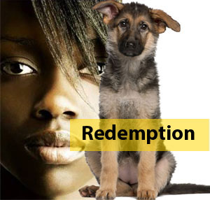 Redemption slide with text