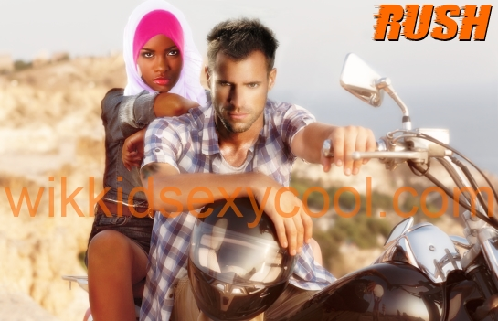 Motorcycle gang member Aiden falls for Somali Bantu refugee Aaliyah, in the ebook RUSH