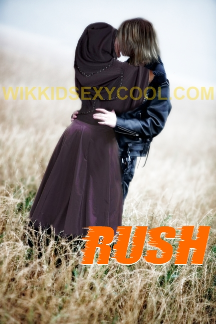 Scene from RUSH - Aiden and Aaliyah kissing in field