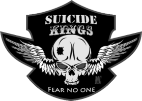 Suicide Kings patch copy Blk and White small size