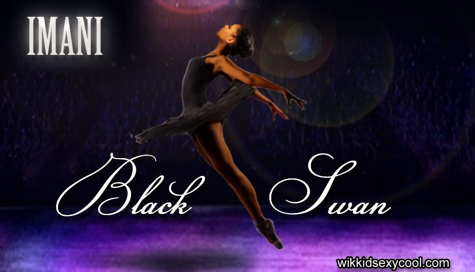 Imani as the Black Swan on stage