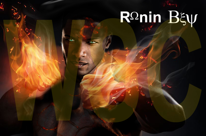 Ronin with his fists on fire2