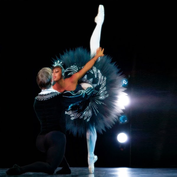Imani as Odette, the black swan from the ballet Swan Lake
