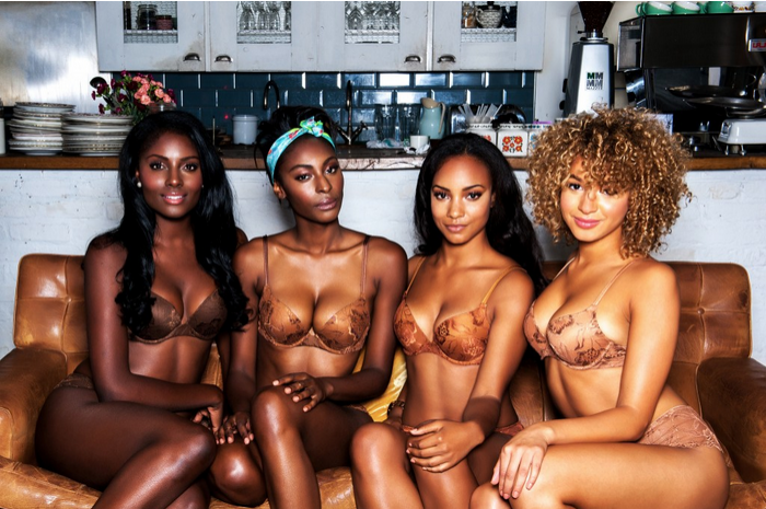 lingerie in different skin tones by Nubian Skin