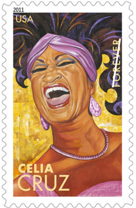 Celia Cruz immortalized on a US stamp