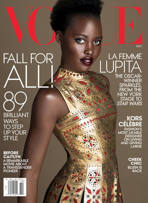 Lupita is the cover girl for Vogue Magazine this month