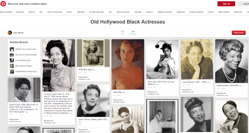 Old Hollywood Black Actresses on Pinterest