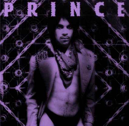 Prince album cover in purple