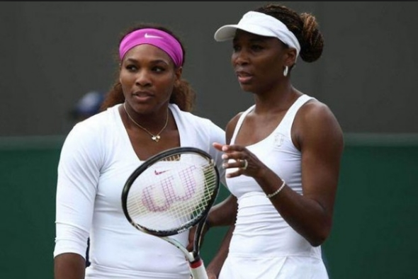 Pictured: doubles partners Serena and Venus Williams. Venus made the semi finals of women's singles this year before losing to Angelique Kerber. The sisters are in the doubles final this year.