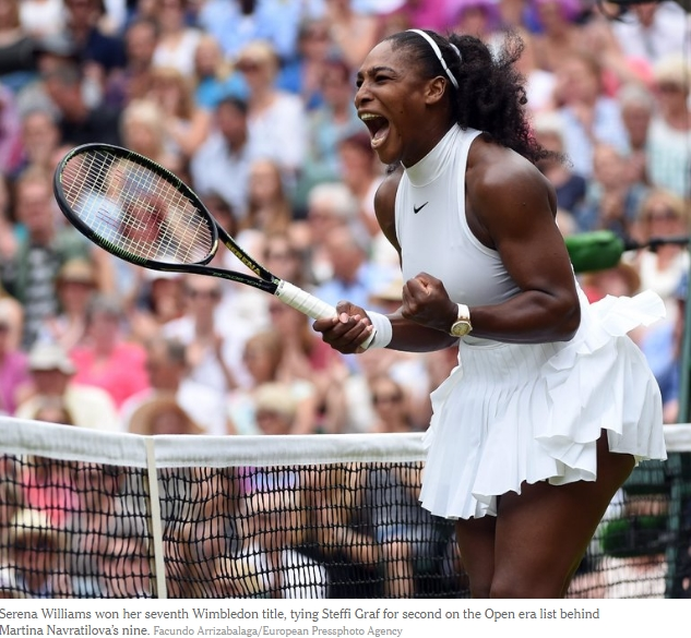 The beauty and power of Serena Williams was on full display