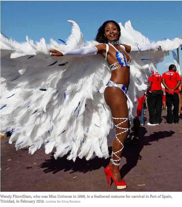 Carnival photo by Andrea De Silver of Reuters_ featuing Wendy Fitzwilliam