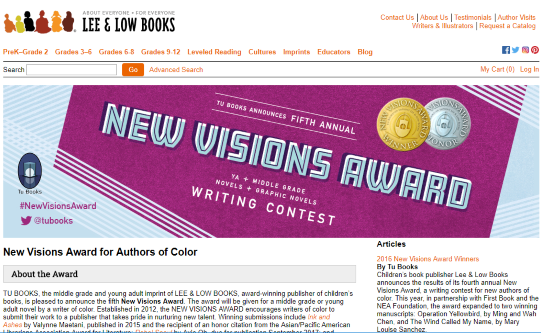 Lee and Low Books_New Vision award