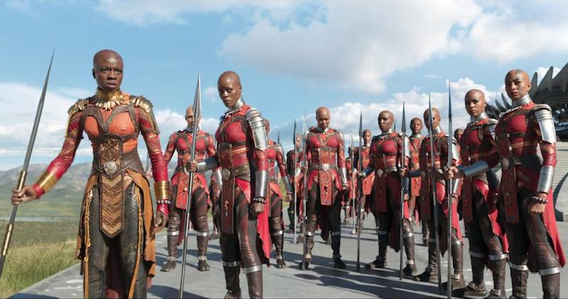 The beautiful and powerful Dora Milaje