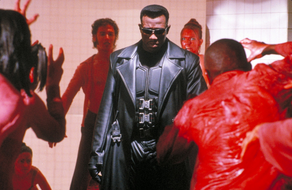 Wesley Snipes as the half-human, half vampire BLADE